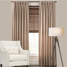 Cantina: Latte Thermal Coated 1 Pass Pinch Pleat Curtains