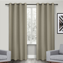 Texas Wheat Eyelet Blackout Curtain Panel Quickfit | 2 Sizes | New