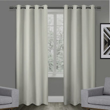 Texas Putty Eyelet Blackout Curtain Panel Quickfit | 2 Sizes | New