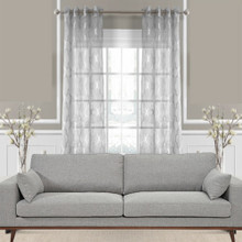 SILVER GREY Premium Sheer Eyelet Curtain panel | Designer Pick