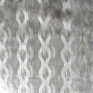 Silver Grey Lattice Design Sheer Eyelet Curtain | Sold Out!