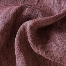 MONTANA: Burgundy Soft Drape Two Tone Linen Look Blockout Soft Drape Curtain Fabric   New