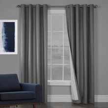 SOHO 100% BLOCKOUT EYELET CURTAIN CHARCOAL GREY  | 4 Sizes