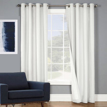 SOHO 100% BLOCKOUT EYELET CURTAIN ECRU | 4 Sizes