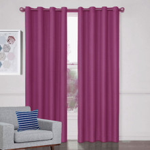 Aspen Textured Blockout Curtains PINK | 4 Sizes!