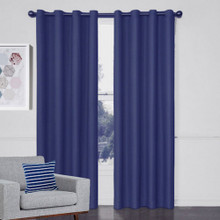 Aspen Textured Blockout Curtains BLUE | 4 Sizes!