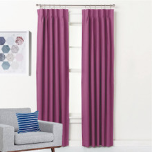 ASPEN Textured Blockout Pinch Pleat Curtains PINK | 4 Sizes!