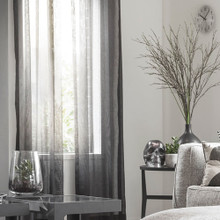 BRISTOL SHEER EYELET CURTAIN PANEL GREY | 2 Sizes!