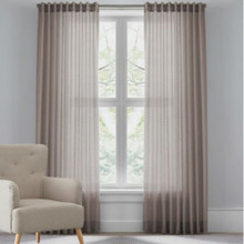 RIVA Reverse Tab Sheer Curtains CHOCOLATE