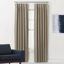 Pinch Pleat Curtains Blockout ARIZONA LATTE | 4 Sizes!