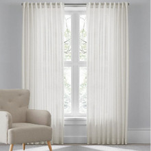 RIVA Reverse Tab Sheer Curtains WHITE
