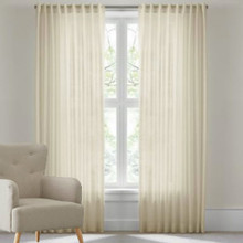 RIVA Reverse Tab Sheer Curtains CREAM