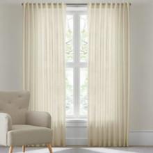 RIVA Reverse Tab Sheer Curtains CREAM
