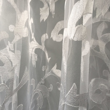 pure p beautiful white wholesale patterned leaf best curtains sheer