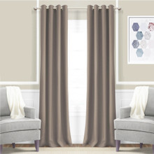 JAMES Thermal Weave Eyelet Curtain Panel CHOCOLATE 140cm X 221cm