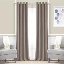 JAMES Thermal Triple Weave Eyelet Curtain Panel 140cm x 221cm CHOCOLATE