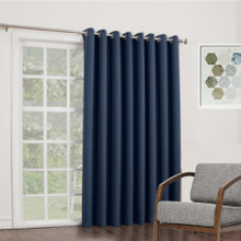 BOND 250cm XL Drop Eyelet Curtain Panel Room Darkening Soft Drape NAVY | 2 Sizes! | New!