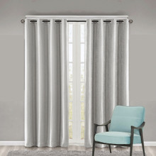 Como Premium Blockout Eyelet Curtain Panel SILVER | Sold Out!