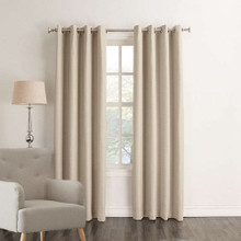 HOUSTON Blockout Eyelet Curtains LINEN | New!