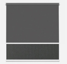 Dual Roller Blind Charcoal Grey | New