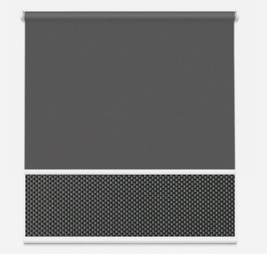 Dual Roller Blind Charcoal Grey   New