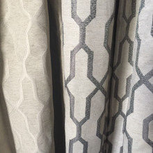 MOROCCAN Premium Eyelet Curtain Panel GREY