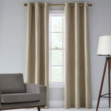 Tampa Blockout Eyelet Curtain Panel | Linen