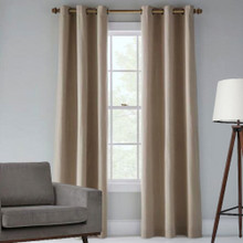 Tampa Blockout Eyelet Curtain | Latte
