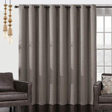 Vail Wide Blockout Eyelet Large Curtain Panel | Brown