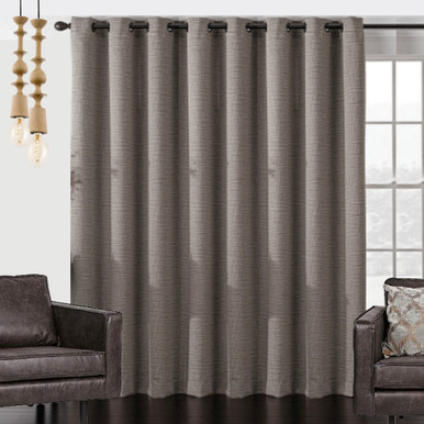 Vail Wide Blockout Eyelet Large Curtain Panel Brown Quickfit