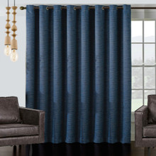 Vail Wide Blockout Eyelet Large Curtain Panel | Blue