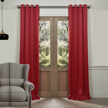 Tucson Blockout Eyelet Curtain Panel Red | Sold Out!