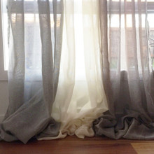 Haven Extra Long Sheer Curtain Grey | Sold Out