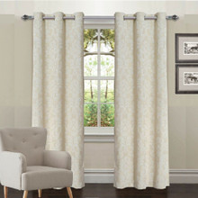 SURREY HILL 100% BLOCKOUT EYELET CURTAIN IVORY  | Out of Stock!