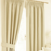 HAMPTON PENCIL PLEAT CREAM