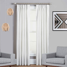 Texas White Pinch Pleat Blackout Curtains Quickfit