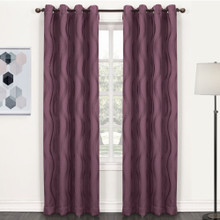 WAVE Eyelet Thermal Blockout Curtains PURPLE