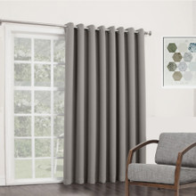 BOND Room Darkening Soft Drape Eyelet Curtain Panel GREY