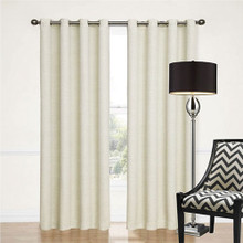 100% BLOCKOUT EYELET CURTAIN ECRU / OFF WHITE