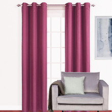 ASPEN Lined Blockout Eyelet Curtain Panel PINK