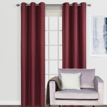 ASPEN Blockout Eyelet Curtain Panels BURGUNDY