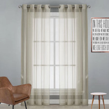 Natural Sheer Eyelet Curtain Cotton Look | New