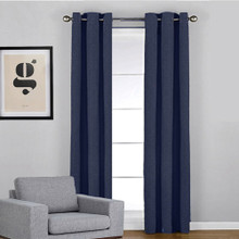 WESTWOOD Blockout Eyelet Curtain Panel NAVY