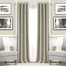 Metro Thermal Weave Soft Drape Eyelet Curtain Panel PUTTY