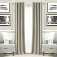Metro Thermal Weave Soft Drape Eyelet Curtain Panel LINEN