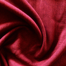 Portsea: RED Soft Drape  Linen Look Blockout Curtain Fabric | New