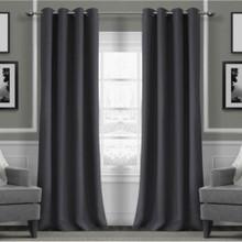 Metro Thermal Weave Soft Drape Eyelet Curtain Panel ASH  New!