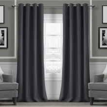 Metro Thermal Weave Soft Drape Eyelet Curtain Panel ASH | Sold Out!