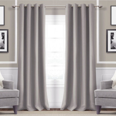 Metro Thermal Weave Soft Drape Eyelet Curtain Panel GREY | New!