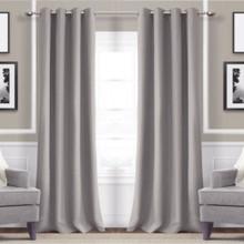 Metro Thermal Weave Soft Drape Eyelet Curtain Panel GREY | New!